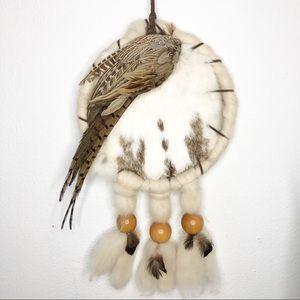 Native American dream catcher rabbit and pheasant